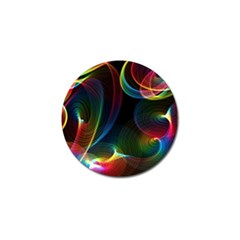 Abstract Rainbow Twirls Golf Ball Marker (4 Pack)