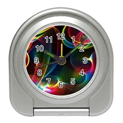 Abstract Rainbow Twirls Travel Alarm Clocks by Nexatart