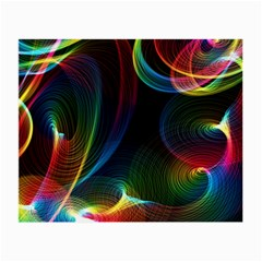 Abstract Rainbow Twirls Small Glasses Cloth by Nexatart