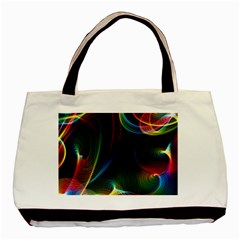 Abstract Rainbow Twirls Basic Tote Bag by Nexatart