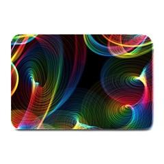Abstract Rainbow Twirls Plate Mats by Nexatart