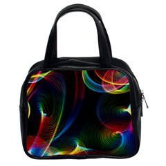 Abstract Rainbow Twirls Classic Handbags (2 Sides) by Nexatart