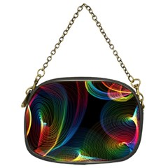 Abstract Rainbow Twirls Chain Purses (one Side)  by Nexatart
