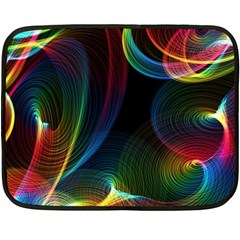 Abstract Rainbow Twirls Fleece Blanket (mini) by Nexatart
