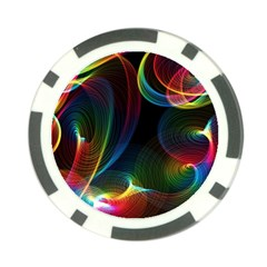Abstract Rainbow Twirls Poker Chip Card Guard (10 Pack)