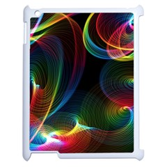 Abstract Rainbow Twirls Apple Ipad 2 Case (white) by Nexatart