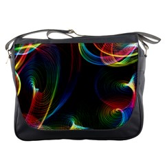 Abstract Rainbow Twirls Messenger Bags