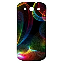 Abstract Rainbow Twirls Samsung Galaxy S3 S Iii Classic Hardshell Back Case by Nexatart