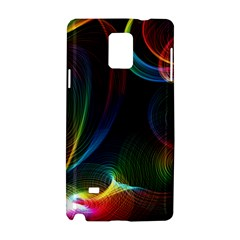 Abstract Rainbow Twirls Samsung Galaxy Note 4 Hardshell Case
