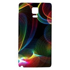 Abstract Rainbow Twirls Galaxy Note 4 Back Case