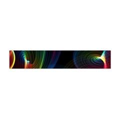 Abstract Rainbow Twirls Flano Scarf (mini)