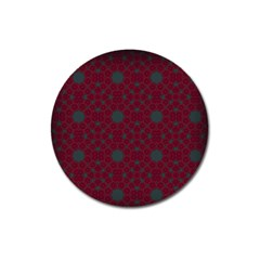 Blue Hot Pink Pattern With Woody Circles Magnet 3  (round)