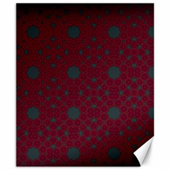 Blue Hot Pink Pattern With Woody Circles Canvas 8  X 10  by Nexatart