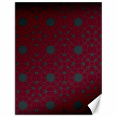 Blue Hot Pink Pattern With Woody Circles Canvas 12  X 16   by Nexatart