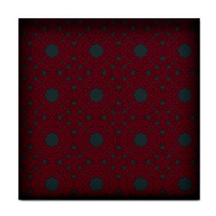 Blue Hot Pink Pattern With Woody Circles Face Towel by Nexatart