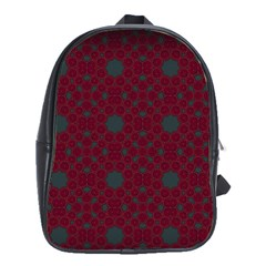 Blue Hot Pink Pattern With Woody Circles School Bags(large)  by Nexatart