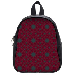 Blue Hot Pink Pattern With Woody Circles School Bags (small)  by Nexatart