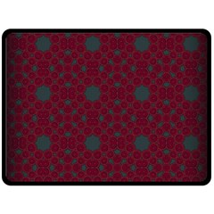 Blue Hot Pink Pattern With Woody Circles Fleece Blanket (large)  by Nexatart