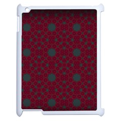 Blue Hot Pink Pattern With Woody Circles Apple Ipad 2 Case (white) by Nexatart
