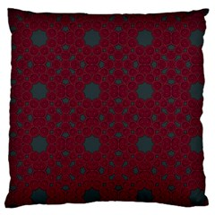 Blue Hot Pink Pattern With Woody Circles Large Cushion Case (one Side)