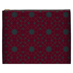 Blue Hot Pink Pattern With Woody Circles Cosmetic Bag (xxxl)  by Nexatart