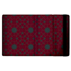 Blue Hot Pink Pattern With Woody Circles Apple Ipad 3/4 Flip Case by Nexatart