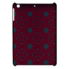 Blue Hot Pink Pattern With Woody Circles Apple Ipad Mini Hardshell Case