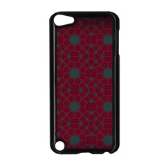 Blue Hot Pink Pattern With Woody Circles Apple Ipod Touch 5 Case (black) by Nexatart