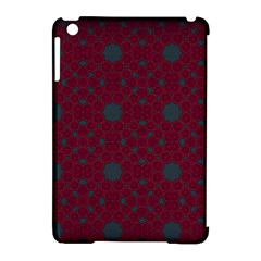 Blue Hot Pink Pattern With Woody Circles Apple Ipad Mini Hardshell Case (compatible With Smart Cover)