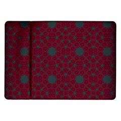 Blue Hot Pink Pattern With Woody Circles Samsung Galaxy Tab 10 1  P7500 Flip Case by Nexatart