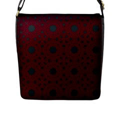 Blue Hot Pink Pattern With Woody Circles Flap Messenger Bag (l)
