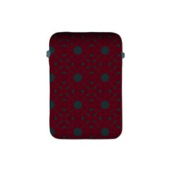 Blue Hot Pink Pattern With Woody Circles Apple Ipad Mini Protective Soft Cases by Nexatart