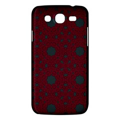 Blue Hot Pink Pattern With Woody Circles Samsung Galaxy Mega 5 8 I9152 Hardshell Case  by Nexatart