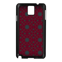Blue Hot Pink Pattern With Woody Circles Samsung Galaxy Note 3 N9005 Case (black) by Nexatart