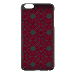 Blue Hot Pink Pattern With Woody Circles Apple Iphone 6 Plus/6s Plus Black Enamel Case by Nexatart