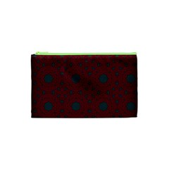 Blue Hot Pink Pattern With Woody Circles Cosmetic Bag (xs) by Nexatart