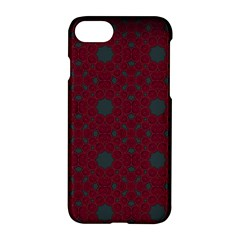 Blue Hot Pink Pattern With Woody Circles Apple Iphone 7 Hardshell Case by Nexatart