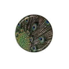 Close Up Of Peacock Feathers Hat Clip Ball Marker (10 Pack)