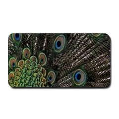 Close Up Of Peacock Feathers Medium Bar Mats by Nexatart