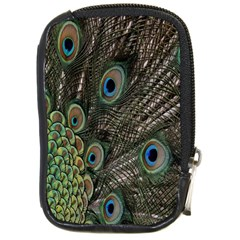 Close Up Of Peacock Feathers Compact Camera Cases by Nexatart