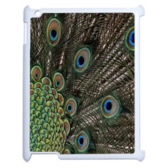 Close Up Of Peacock Feathers Apple Ipad 2 Case (white) by Nexatart