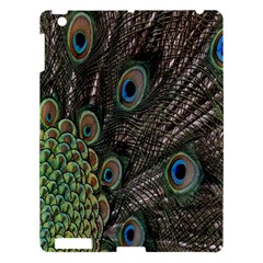 Close Up Of Peacock Feathers Apple Ipad 3/4 Hardshell Case by Nexatart