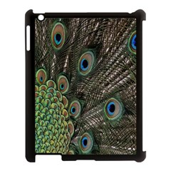 Close Up Of Peacock Feathers Apple Ipad 3/4 Case (black)