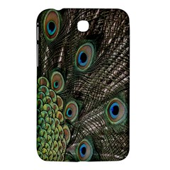 Close Up Of Peacock Feathers Samsung Galaxy Tab 3 (7 ) P3200 Hardshell Case  by Nexatart