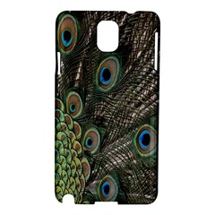 Close Up Of Peacock Feathers Samsung Galaxy Note 3 N9005 Hardshell Case by Nexatart