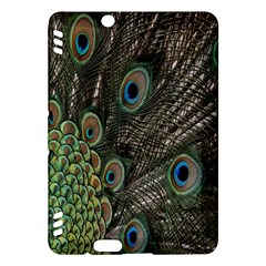 Close Up Of Peacock Feathers Kindle Fire Hdx Hardshell Case by Nexatart