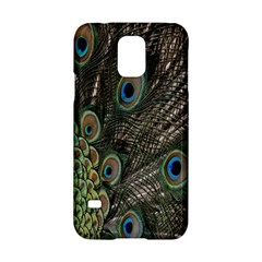 Close Up Of Peacock Feathers Samsung Galaxy S5 Hardshell Case