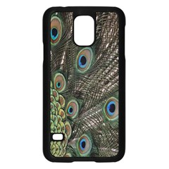 Close Up Of Peacock Feathers Samsung Galaxy S5 Case (black)