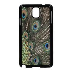 Close Up Of Peacock Feathers Samsung Galaxy Note 3 Neo Hardshell Case (black) by Nexatart