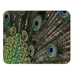 Close Up Of Peacock Feathers Double Sided Flano Blanket (large)  by Nexatart